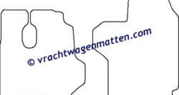 Mercedes Actros MP2 megaspace vloermatten